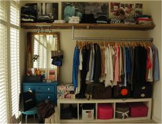 I wish one wall was enough for my 'collection' of clothes..