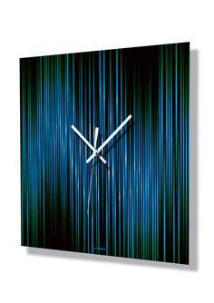 Lineas Acqua wall clock by Hangtime Designs