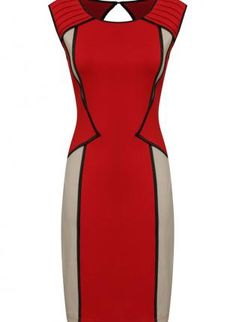 Red Cocktail Dress... such a bold and rich combination. I'm not terribly fond of red but this is soooo HOT.