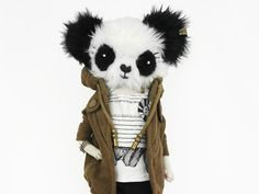 Szmacianki handmade custom dolls  and pandas on Etsy