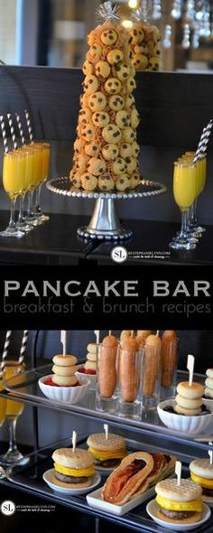 Pancake Bar Party | Simple and Fun Breakfast and Brunch Recipes  12daysofpancakes  pancake # party   holiday  entertaining from MichaelsMakers By Stephanie Lynn