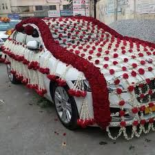 Rent brand new luxury, ac, cars for the wedding day. Noori Travels provides luxury car rental service with well trained Chauffer for guest pick and drop, Wedding Transportation and more in Hyderabad. Wedding Room Decorations, Flower Decorations, Flower Garlands, Diy Decoration, Lilo Stitch, Luxury Wedding Decor, Desi Wedding Decor, Wedding Ideas, Bridal Car