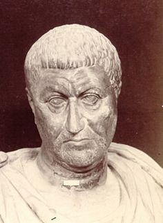 """27-Diocletian, Roman Emperor, reigned 284-305, """"Fight me, biotch."""" Responsible for reorganization of the Empire and persecution of Christians.  (Source for Memmius has not been identified)"""