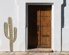Cactus wall art Outdoor wall art cactus Garden art by GVEGA