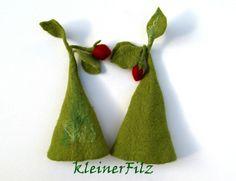 Filz Eierwärmer Erdbeere von kleinerFilz auf DaWanda.com h16 U16 14,0
