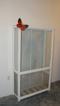 butterfly garden Butterfly Cages to Ma - gardencare Butterfly Cage, Butterfly Plants, Butterfly House, Monarch Butterfly, Chameleon Enclosure, Monarch Caterpillar, Flyer, Garden Projects, Garden Ideas