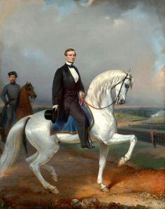 Jefferson Davis painting by L.M.D. Guillaume c1862-1865.