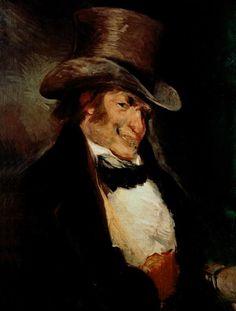 Self Portrait age 65. 1811. Art works by Francisco Goya