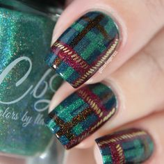 Hey there lovers of nail art! In this post we are going to share with you some Magnificent Nail Art Designs that are going to catch your eye and that you will want to copy for sure. Nail art is gaining more… Read Trendy Nail Art, Cute Nail Art, Cute Nails, Plaid Nail Art, Plaid Nails, Opi, Essie, Holiday Nails, Christmas Nails