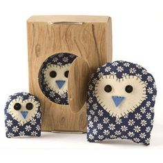 Owl Cuteness - what a great first sewing project idea.