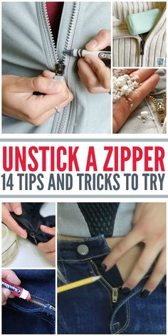 How to Unstick a Zipper: 14 Things to Try - One Crazy House