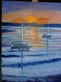 Sunset -in oils
