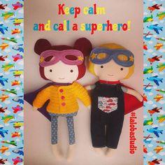 Keep calm and call a superhero! #craftynov #calm #lalobastudio #superhero…