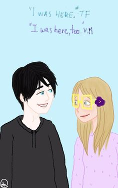 Theodore Finch and Violet Markey from All the Bright Places by Jennifer Niven.