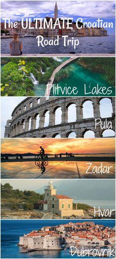 The best road trip through Croatia. Including Plitvice Lakes, Pula, Zagreb, Zadar, Pag, Hvar, Split, and Dubrovnik.