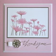 10/3/2009; Shelly Starkis at 'Shelley's Stamping Ground' blog; Upsy Daisy stamp; inks:  Pretty in Pink, Regal Rose and Close to Cocoa; the cardstock colours are Whisper White, Close to Cocoa, Pretty in Pink and Pink Pirouette.