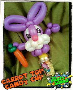 Cool Easter Bunny Candy Cup. Twisted by Ditzy Doodles :) http://www.thepartysquad.co.uk/ htpp://www.facebook.com/ThePartySquadUK/