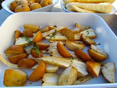 Try roasting parsnips and nashi pear with a light drizzle of honey and a touch of fresh ginger.