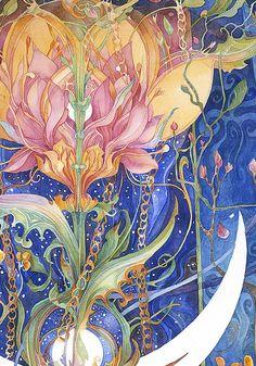 """""""The Flowering goddess (zoom 1)"""" par Helena Nelson-Reed"""