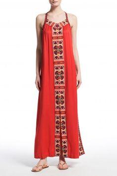 Dalbi Jacquard Embellished Maxi Dress