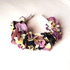 Boho dark flower crown / Diadema de flores preservadas oscura - Margot Blanxart