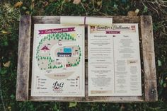 Music festival themed wedding program - too cute | Image by Jean-Laurent Gaudy