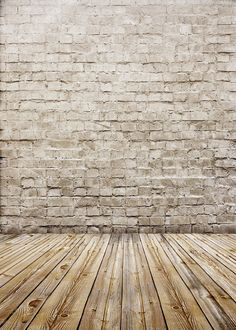 Brick wall with vintage wood floor photography backdrops vinyl digital cloth for baby photo studio background