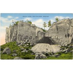 Indian Caves near Billings, MT