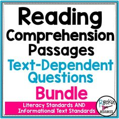 Engage your students with high-interest reading comprehension passages designed for each LITERACY AND INFORMATIONAL STANDARD. Each lengthy passage is written with 3 differentiated reading levels with or without a dyslexic font Interactive Writing Notebook, Writing Curriculum, Teaching Writing, Interactive Notebooks, Writing Test, Start Writing, Teaching English, Writing Centers, Teaching Ideas