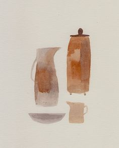 Cathy Cullis — an earthy arrangement — watercolour {via missmoss}