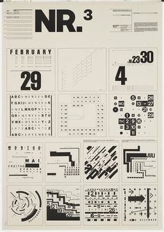 Sassy Typography MoMA | The Collection | Wolfgang Weingart. Typographic Process, Nr 3. Calender Text Structures. 1971-1972