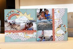 Hanging with Aunt Sarah Nothing is more fun than hanging with your FUN Aunt and building a sandcastle at the beach during the Summer.  These photos were taken of my kids, some of their cousins and their Aunt Sarah who came into town for a visit.  I love the way this layout turned out. From …