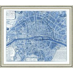 Vintage Print Gallery Map Of Paris (navy) 18 X 22 By ($179) ❤ liked on Polyvore featuring home, home decor, wall art, backgrounds, posters, vintage print gallery, map wall art, glass wall art, paris map poster and navy blue home decor