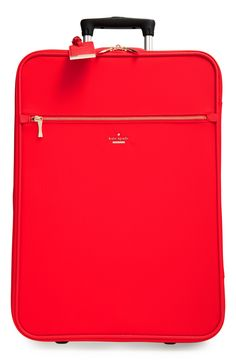 kate spade new york 'classic' nylon international two-wheel carry-on suitcase (20 Inch)