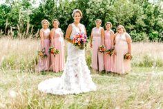 Summer Zinnia Wedding - Florassentials Bridesmaid Dresses, Wedding Dresses, Zinnias, Floral Design, Summer, Fashion, Bridesmade Dresses, Bride Dresses, Moda