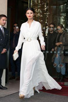 The DRAMA of Selena's white dress tho.