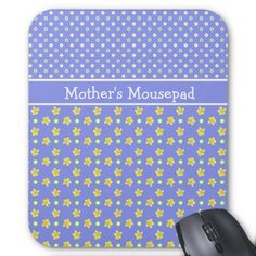 """A pretty Mousepad for you to personalise, with mix'n'match patterns of white polka dots on violet blue and a mini-print pattern of yellow primroses and white polka dots, also on violet blue. Part of the Posh & Painterly """"Primroses"""" collection: up to $13.95 - http://www.zazzle.com/primroses_mousepad_to_personalize_polka_dots_blue-144548027134839622?rf=238041988035411422&tc=pintw"""