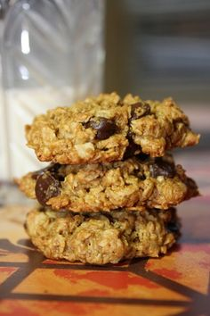 Clean oatmeal chocolate chip cookies. Just made these and they are soooo good! I used 72% choc pieces.