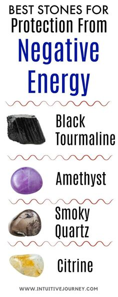 Best stones for protection from negative energy. Good info here on which crystals and gemstones to use to protect and repel negative energy.