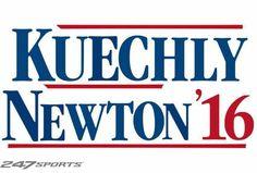 Kuechly / Newton '16 Carolina Panthers Football, Football Love, Sports, Hs Sports, Sport