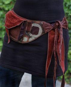 Bronze Circles - Pocket Belt - Utility belt - Festival belt - Hip bag - Bohemian…