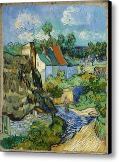 Houses In Auvers Canvas Print / Canvas Art By Van Gogh