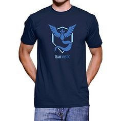 Pokemon Go Team Mystic Camiseta (Navy, L) #camiseta #realidadaumentada #ideas #regalo