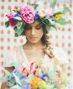 Bright flower crown