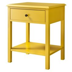 Delightful Accent Table: Threshold Windham Side Table With Shelf   Yellow