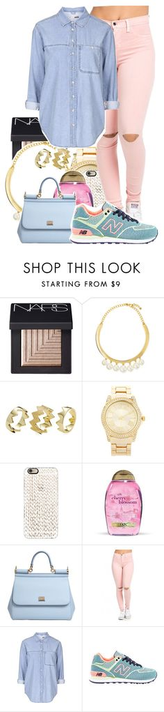"""Untitled #523"" by makkisme on Polyvore featuring NARS Cosmetics, Kenneth Jay Lane, Pixie Grey, Forever 21, Casetify, Dolce&Gabbana, Topshop and New Balance"