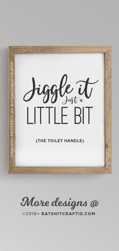 Cute AND Functional! Bathroom sign Rustic Farmhouse Home Decor Cute Funny Septic System No Tampons Printable Instant Download Wall Art Sensitive Plumbing Toilet Handle Jiggle It Do not Flush Flush Pee Poo Toilet Paper Only Framed Print Modern