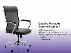 CADEIRA MANAGER CHROME™ STAPLES®