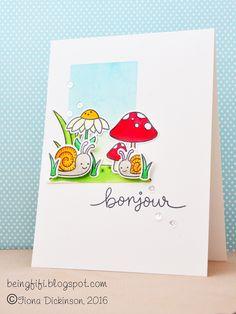Lawn Fawn - Gleeful Gardens _ beautiful card by Fiona via Flickr