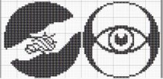 Divergent Faction Symbols (Film) Pattern 2 of 3. 48x48 stitches. Cross stitch patterns for Abnegation and Erudite